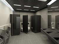 3ds max water closet office 2x