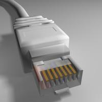 plug rj45 3d model