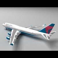 3d model the747-400 airliner delta 2009