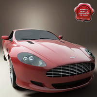 realistic aston martin db9 3d model
