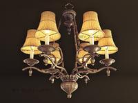 3d chandelier bamboo