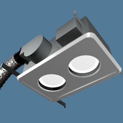 3ds max bathroom light vent fan. Black Bedroom Furniture Sets. Home Design Ideas