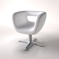 contemporary chair office 3d model