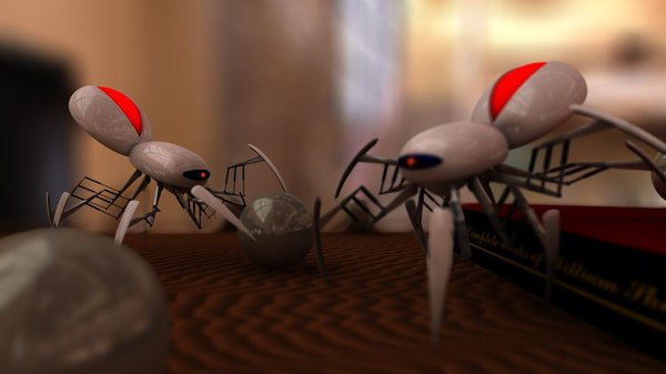 3d model robot spider arachnid - Spider_model.c4d... by budin