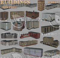 buildings part1 3d model