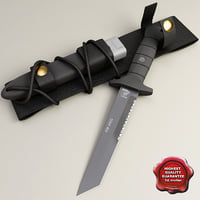 combat knife oes km2000 3d model