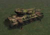 dual turret tank c4d