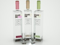 square vodka bottles 3d model