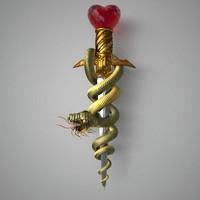 maya snake sword