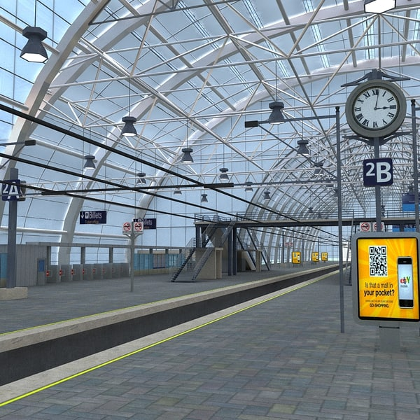 train station 3d model - Train Station... by Imagework