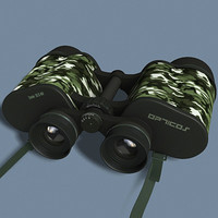 binoculars modeled 3d model