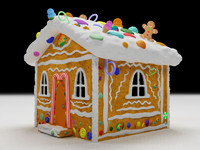 3d model candy house