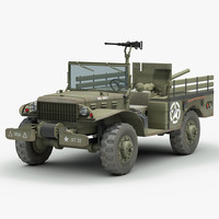 3d dodge wc 55 gun model