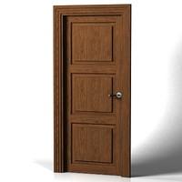 classic wooden door 3d max