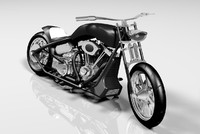 3d model custom motorbike