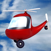 3ds max helicopter cartoon