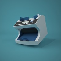 cartoon style money counter 3d model