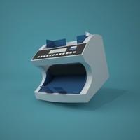 cartoon style money counter 3d model