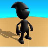 ninja pleb 3d model