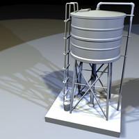 3d model roof water tank 03
