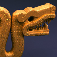 Aztec double headed serpent