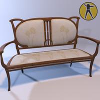 sofa art nouveau max