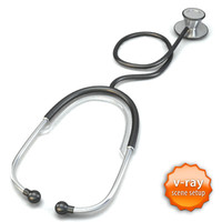 3ds max stethoscope steth scope