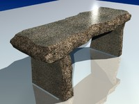 concrete table 3d model