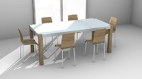 Tripod3D DiningTable 01