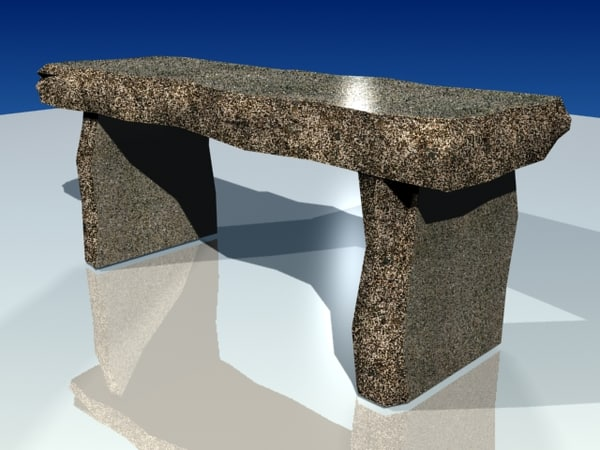 concrete table 3d model - table concrete.zip... by eaglemac