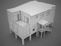 3d model of house beach