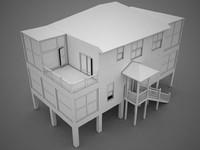 3d model of house beach
