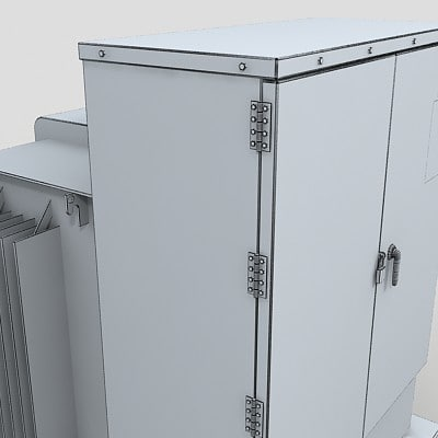 electrical boxes 3d obj - rooftop Electric Box Pack... by DigitalX