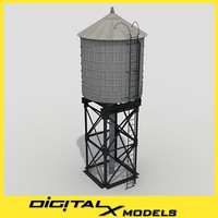 rooftop water tower 1 3ds