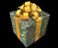 gift box christmas presents c4d