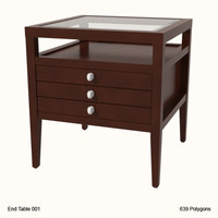 end table 001 3d obj