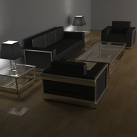 modern living room furniture 3d model