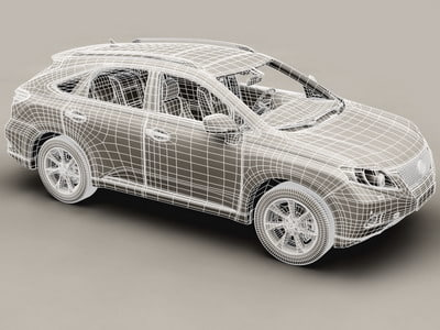 3d lexus interior car - Lexus RX 2010 low res interior... by Behr Bros