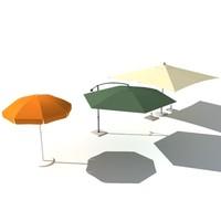 3d garden umbrella