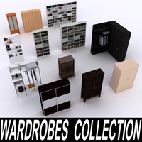 wardrobes bookcases 3d model