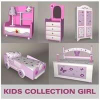 3ds max furniture little girl