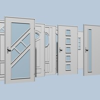 3d doors set architectural model