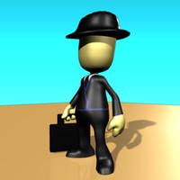 3d business man pleb