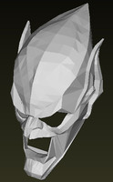 green goblin mask 3d model