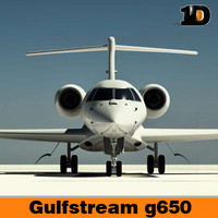 3ds max gulfstream aircraft g650