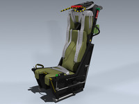 3d martin-baker mk 7 ejection seat model