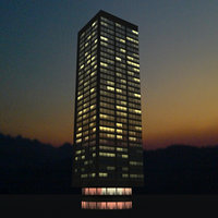 3d building rio night