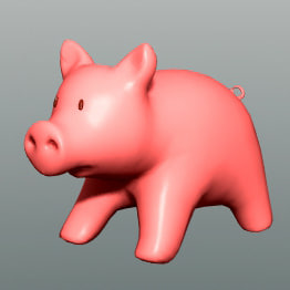 happy piggy :d 3d model - HAPPY PIGGY  :D... by SpinQuad1976