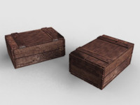 old wood box 3d model
