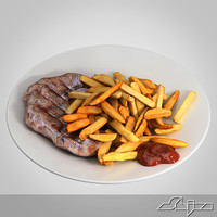 3d max roast beef french fries
